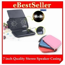 7 inch Quality Fantastic Stereo Speaker Color Leather Case Casing