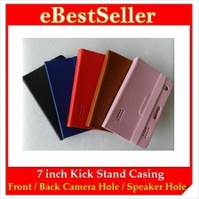 7 inch Universal Evolution Flexi Kick Stand Tablet Leather Case Casing