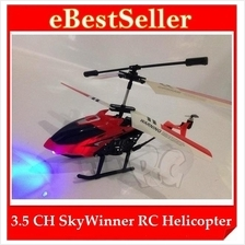 Kids Toy Game 3.5 Channel Skywinner 808 RC Remote Control Helicopter