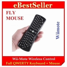Flying Wii-Mote Wireless Full Control QWERTY Keyboard + Mouse RC12 R11