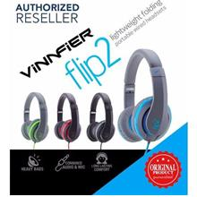 Original Vinnfier Flip 2 Headset Over-The-Ear Headphones Heavy Base