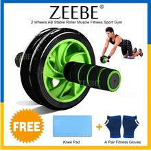 ZEEBE Double 2 Wheels AB Stable Roller Muscle Fitness Sport Gym