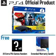 PS4 Slim 500Gb HITS Bundle V2 (2 Extra Games) (2 Years Sony Malaysia W