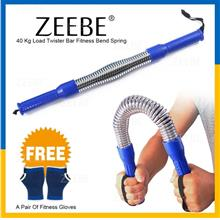 ZEEBE 40kg Twister Bar Arm Biceps Chest Builder Gym Fitness Sport