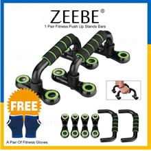 ZEEBE Push Up Bars Inclined Bar Gym Fitness Chest Stands Bar Workout