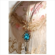 YN-4202	simple and refreshing palace Retro gem necklace Exquisite mix