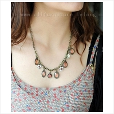 YN-4281	fashion romantic retro drip flower necklace 民族&#..