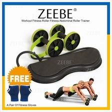 ZEEBE Revoflex Xtreme Double AB Roller Exercise Trainer Fitness Gym