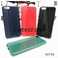 Oppo F3 A77 Flexible Silicone Carbon Soft Cover Color Case