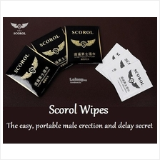 Scorol Men Delay Sex Play Wet Tissue Wipe 1pc Tisu Tahan Lama Lelaki