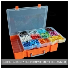 Bricks Compartment Organizer 2 Layer Extra Large Adjustable Stackable