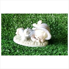PORCELAIN HAND PAINTED DECORATION STATUE ANIMALS GIFT SS079