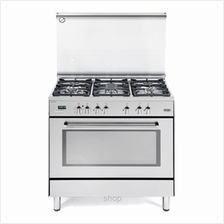 Delonghi Professional Gas Cooker Elegance Series Stainless Steel - PEMX-9650