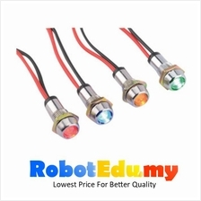 Waterproof Stainless Steel 12v Red LED Light Signal Metal Indicator