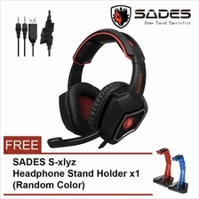 SADES Spirit Wolf R9 Stereo Sound USB Gaming Headphone