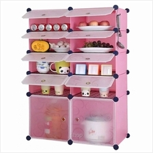 Tuppercabinet 10 Cubes Pink Color DIY Kitchen Storage with 8 Iron Fram)