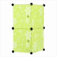 Tuppercabinet 2 Cubes Full Green Flower DIY Storage Organizer)