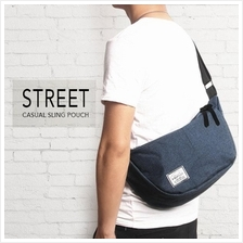 Street Casual Messenger Sling Pouch Bag For Men & Women (Navy)