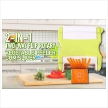 Unique 2-IN-1 Two-Way Rotary Flip Switch Peeler Cum Slicer+Shipping