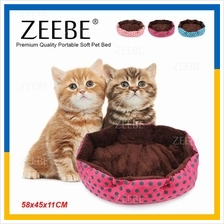 ZEEBE Premium Quality Portable Soft Pet Bed for Pets 58x45cm