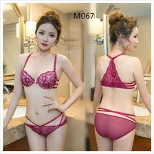 M067 Korean Front Hook Butterfly Sexy Push Up Bra Sets