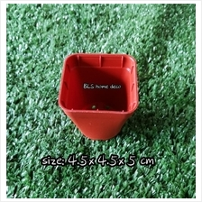 50 PCS DIAMETER 4.5 CM LIPSON LS2-88 MINI SQUARE PLASTIC POT
