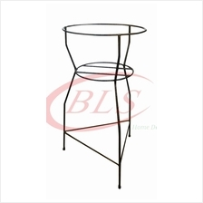 BRONZE COLOR H 73 CM IRON FLOWER POT STAND PLANTS GARDEN RACK ST-295