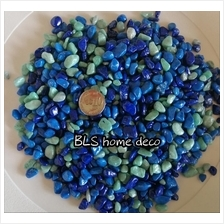 2KG 1CM - 3CM MIX COLOR COATED STONE GARDEN LANDSCAPE DECOR C