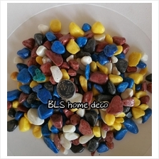 2KG 1CM - 3CM MIX COLOR COATED STONE GARDEN LANDSCAPE DECOR E