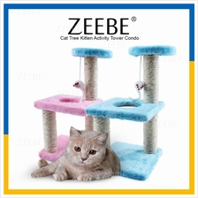 ZEEBE Cat Tree Kitten Activity Tower Condo Toy Scratcher Plat Bed