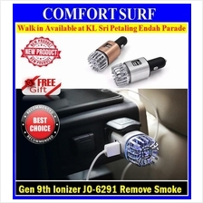 Gen 9th JO6291 Car Purifier Ionizer Dual USB Charger Remove Dust Smoke