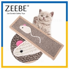 ZEEBE Cat Kitten Fun Claw Scratch Scratcher Pad Cardboard Toy