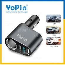 YoPin Fast Charger Car Cigarette Lighter Socket Dual USB