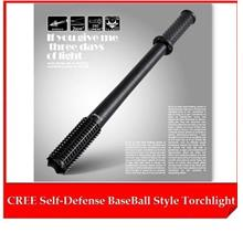 Self Defence Protect CREE Baseball Style Stick Torchlight Flashlight