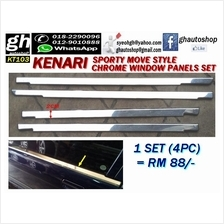 KENARI sporty move style chrome window trims set (4pcs)
