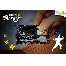 ~ Rugged & Sturdy WALLET NINJA 18-in-1 Multi Tool Card. Must Have ~