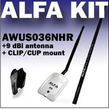 ALFA AWUS036NHR  V2 + 9Db wireless Network Adapter