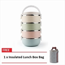 Multicolor 3/4 Layer Stainless Steel Lunch Box FREE Insulated Lunch Bo