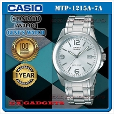 CASIO MTP-1215A-7A STANDARD Analog Mens Watch Date Stainless Steel WR
