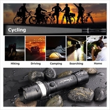 Rechargeable Flashlight Touch light▶Rotary zoom▶Waterproof