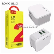 Ldnio A2203 2.4a Auto Id 2 Port Usb Adapter Travel Charger + Microusb