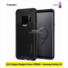 [Ori] Spigen Rugged Armor URBAN Series for Samsung Galaxy S9 (Black)