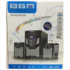 BGM Multimedia Speaker System With USB/SD/FM/REMOTE