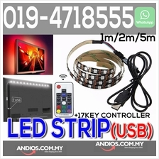 5050 RGB LED Strip Light Lighting+USB+17 Key Remote Control