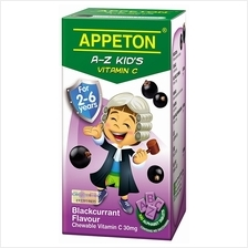 Appeton A-Z Vitamin-C (Blackcurrant) Tablets 100's (For 2-6 years old)