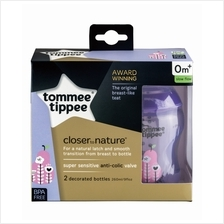 Tommee Tippee Closer to Nature Tinted Bottle 260ml/9oz - Purple (Twin