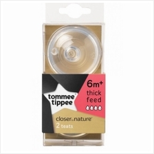 Tommee Tippee Closer to Nature Easivent 6m+ Thick Feed (2 teats)
