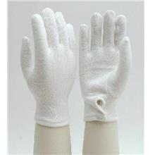 White Cotton Glove with Button, 2 Pairs