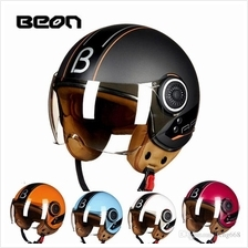 BEON Motorcycle Scooter Retro Vintage Safety Half Helmet