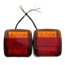2PCS LED Tail Light Turn Signal Light For Trailer Truck Recreational V..